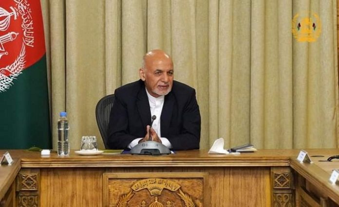 Afghan president says he left country to avoid bloodshed
