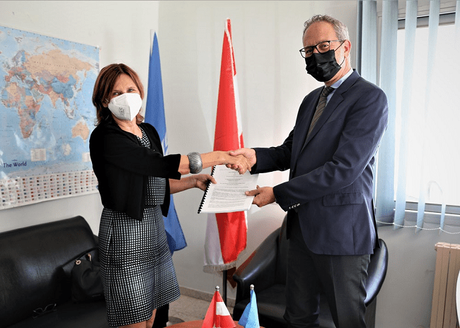 Austria signs agreement to support UNRWA 2021 Syria Regional Crisis Emergency Appeal