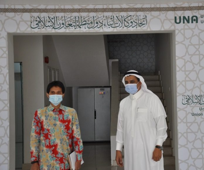 Indonesia's Consul for Media and Culture Affairs in Jeddah visits UNA headquarters