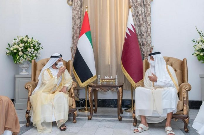 UAE Vice President meets Emir of Qatar on sidelines of Baghdad Conference
