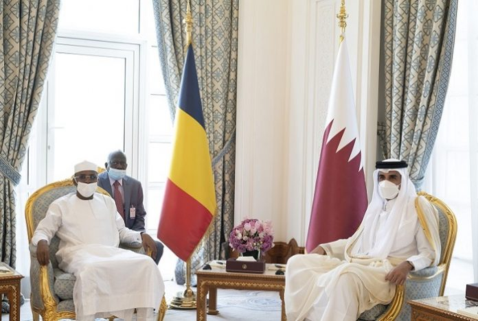Emir of Qatar discusses bilateral ties with Chadian Transitional Military Council President