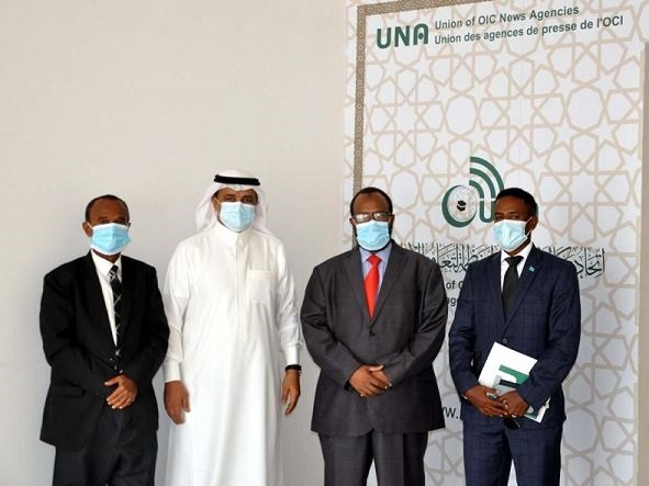 Somalia's Permanent Representative to OIC visits UNA headquarters